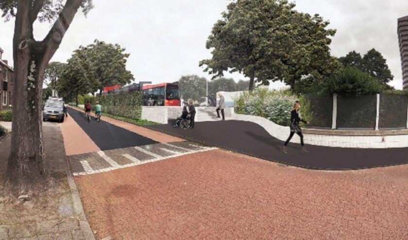 • Impressie van de zuidelijke bushalte.