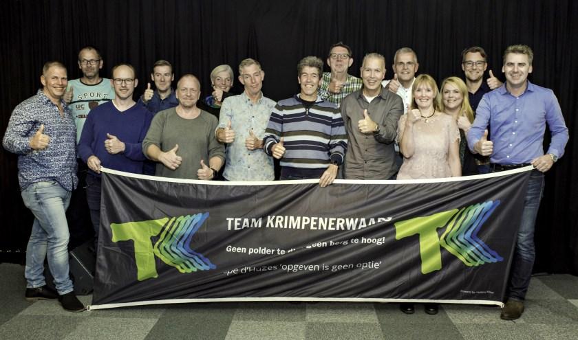 • De presentatie van Team Krimpenerwaard in de studio van RTV Krimpenerwaard.