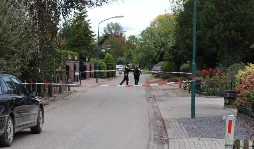 Politie heeft het gebied afgezet.