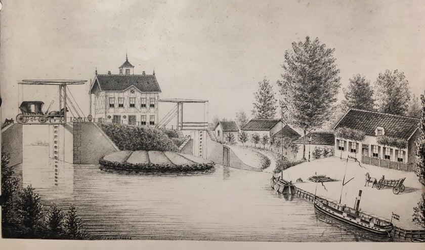 • De loswal aan de Waterpoort in Asperen rond 1890.