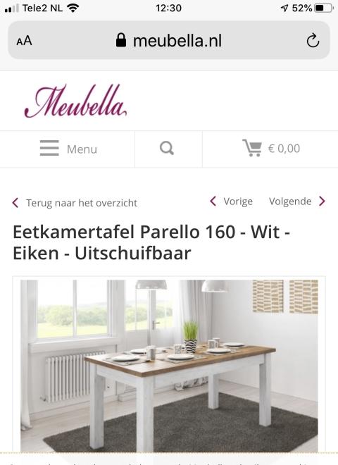 Te Koop Eettafel Met 6 Stoelen.Eetkamertafel Wit Eiken Uitschuifbaar Marktplein Het Kontakt App