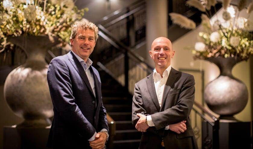 Directievoorzitter Roelf Polman (links) en voorzitter raad van commissarissen Marcel van Buren (rechts).