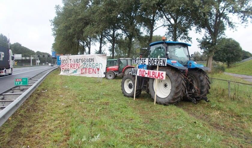 • Boerenprotest in de Alblasserwaard in verband met de aanpak van het stikstofprobleem.
