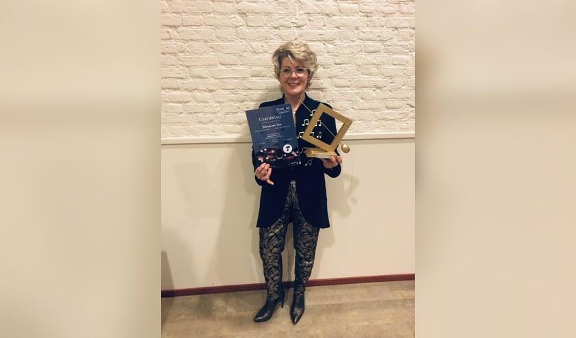• Jolanda van Veen is de eerste MaesTro dirigent van Genderen.