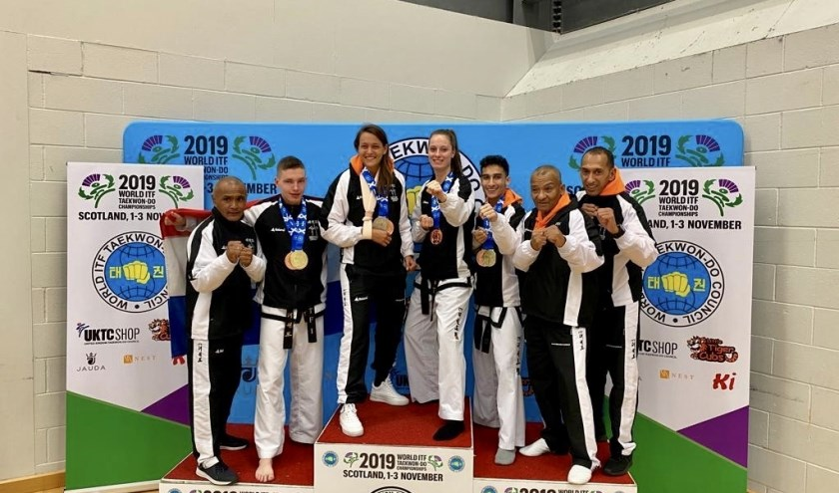 • Het succesvolle team van Taekwon-Do Leerdam