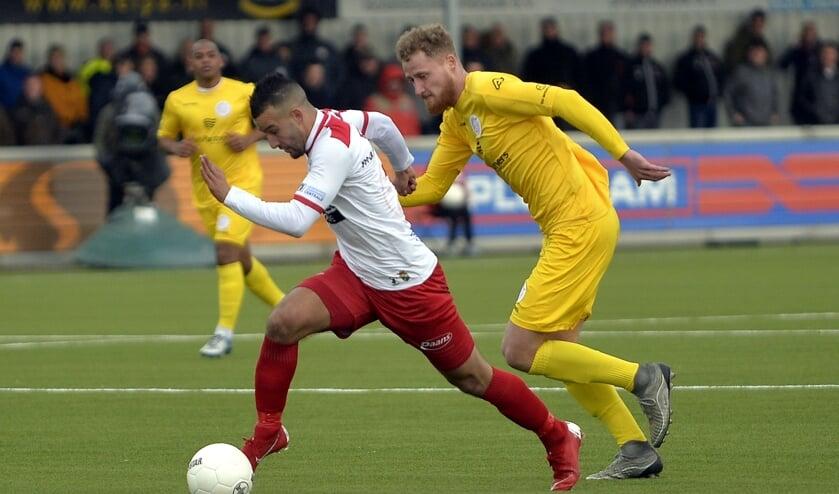 • Spelmoment uit de wedstrijd Kozakken Boys-IJsselmeervogels van vorig seizoen.