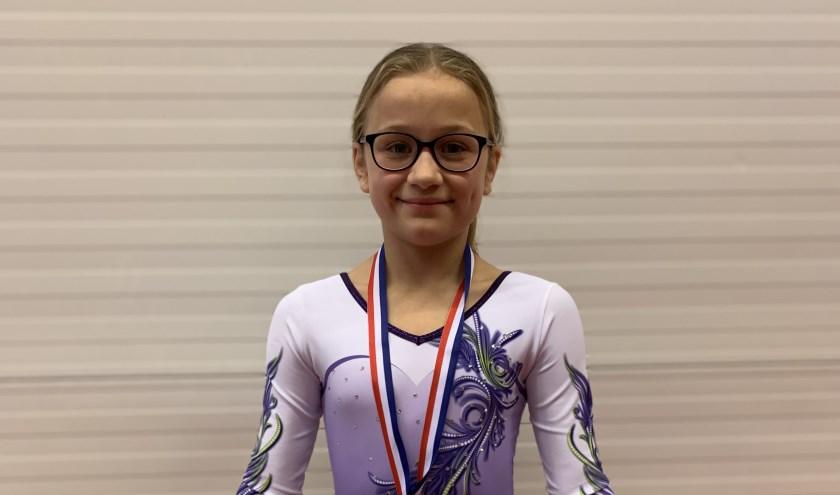 • Luna Olde Olthof uit Wijk en Aalburg was zelf verrast door haar goede wedstrijd en won het zilver.