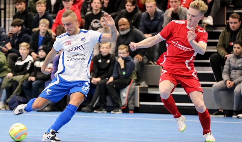 • Quincy Bartens scoorde vijfmaal voor Sliedrecht tegen Peursum (13-3).