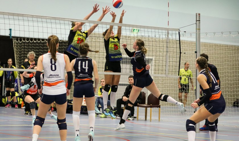 • Volley Meerkerk'95 won de derby tegen Next Volley.