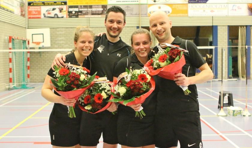 • In een razend spannend duel tegen Vridos haalde Badmintonclub Leerdam de titel binnen.