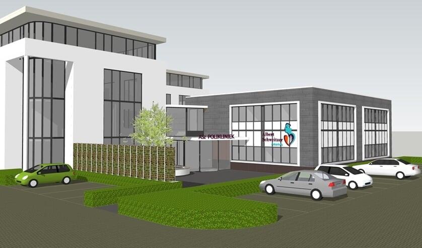 • Een impressie van hoe het nieuwe ziekenhuis in Sliedrecht eruit komt te zien.