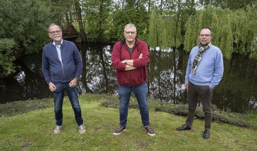 • De drie bestuursleden van Progressief Molenlanden.
