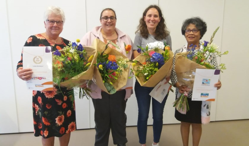 • V.l.n.r.: Margo Zwijnenburg, Mariëlle van Poppel, Marlous van der Helm en Deliana Matahelumual.