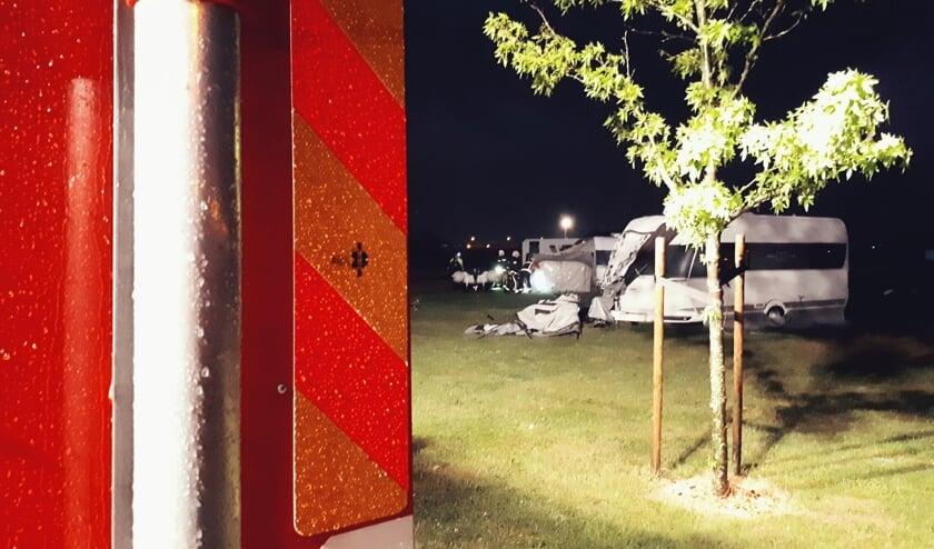 • De brandweer van Schoonhoven rukte uit om hulp te verlenen aan gasten van camping 't Wilgerak.