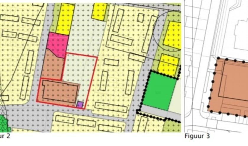 • De plantekening van het MFC met de contouren van de huidige locatie.