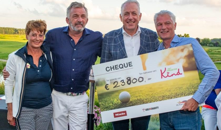 Het Miele & Golf4Charity golf event heeft 23.800 euro opgebracht voor Stichting Het Vergeten Kind.
