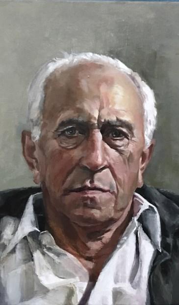• Henk Maas uit Den Dungen, geschilderd door Erna van Lith uit Hedel.