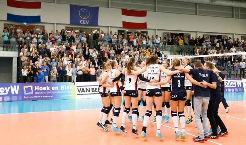 • Sliedrecht Sport won afgelopen seizoen van Graz in de Europacup.