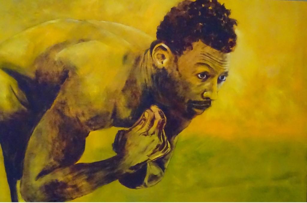 • Gastkunstenaar Kees Habraken maakt portretten van mensen die hij ontmoet op zijn vele reizen door onder andere centraal Afrika. Foto: Kees Habraken © Bommelerwaard