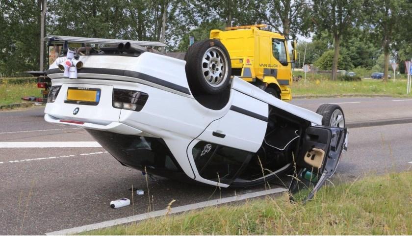 • De blikjes achter de auto brachten dit keer geen geluk.