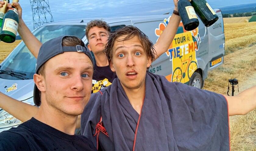 Devin, Josse en Bas vormden het team achter Tour de Tietema.