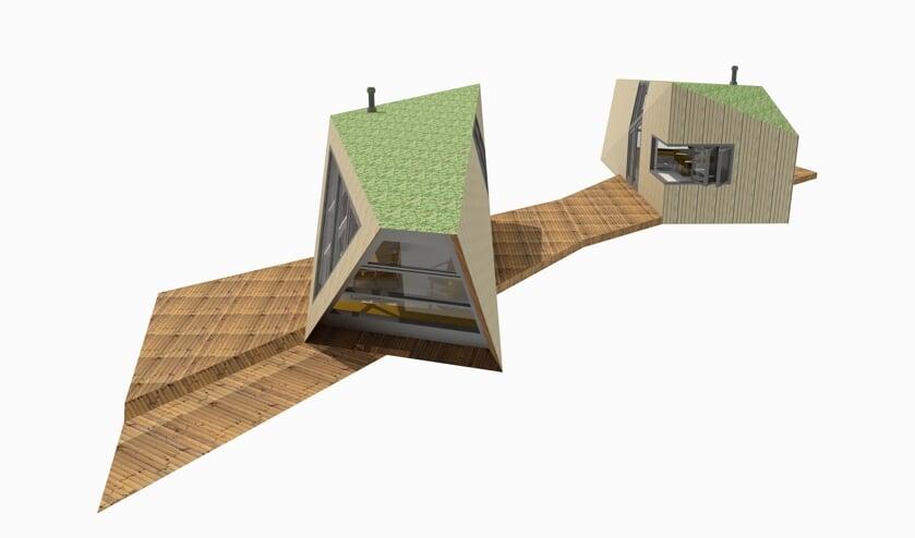 • Het off grid-ontwerp van het BOCKhouse - tiny house van Marc de Bock - door Jan-Willem Van der Male van tinyhouseacademy.nl.