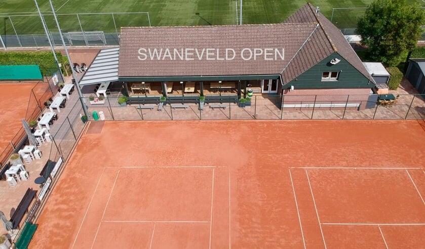 • Het tennispark in Schoonhoven.