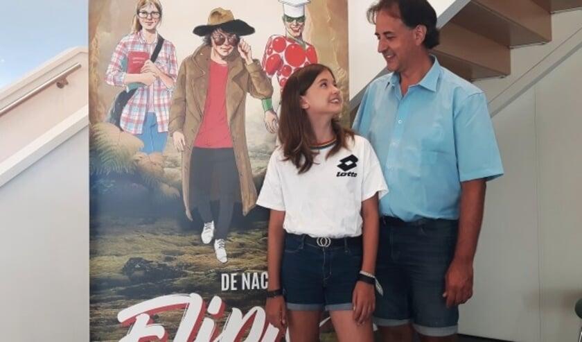 """Peter van Dijk en zijn dochter Irisz spelen allebei in de nieuwe musical """"De Nacht van Flipje"""", een productie van de Agnietenhof."""