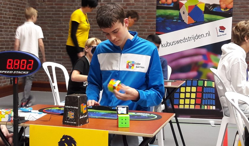 • Olivier Vos in actie tijdens het NK in Veenendaal.