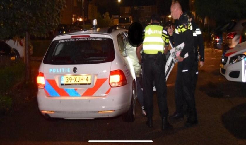 • De politie hield donderdagavond een verdachte aan.