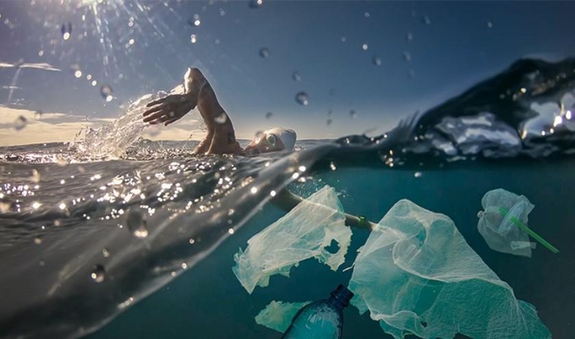 • Met de Sea Swim vraagt WWF aandacht voor het plasticprobleem.