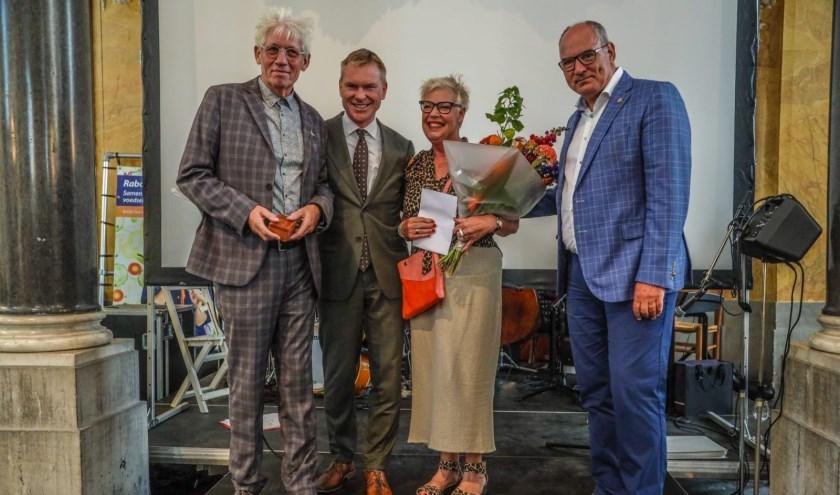 • V.l.n.r. Hans de Wit, Peter Rehwinkel, Hanneke de Wit en Henny van Kooten.