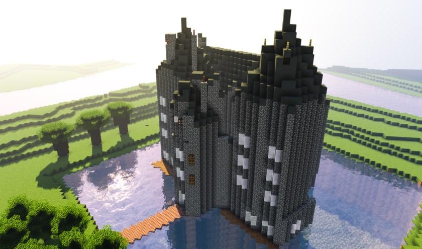 • De contouren van Slot Loevestein staan al klaar.