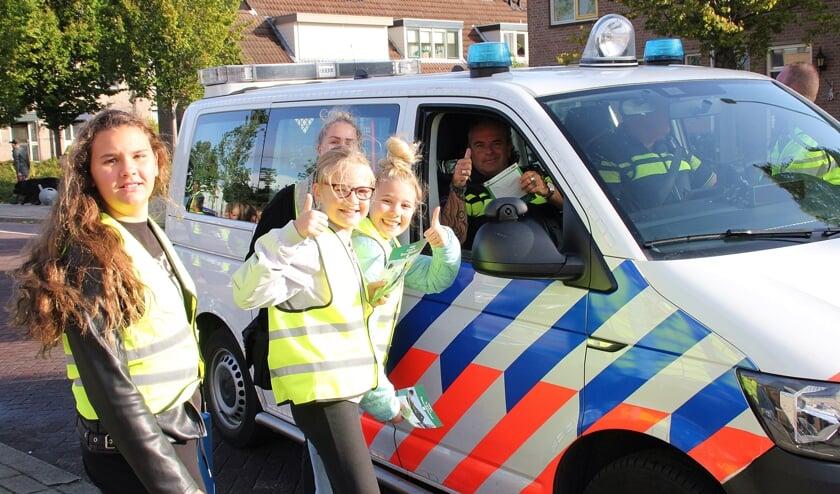 • Ook de politie zelf werd aan de kant van de weg gezet tijdens de verkeerscampagne.