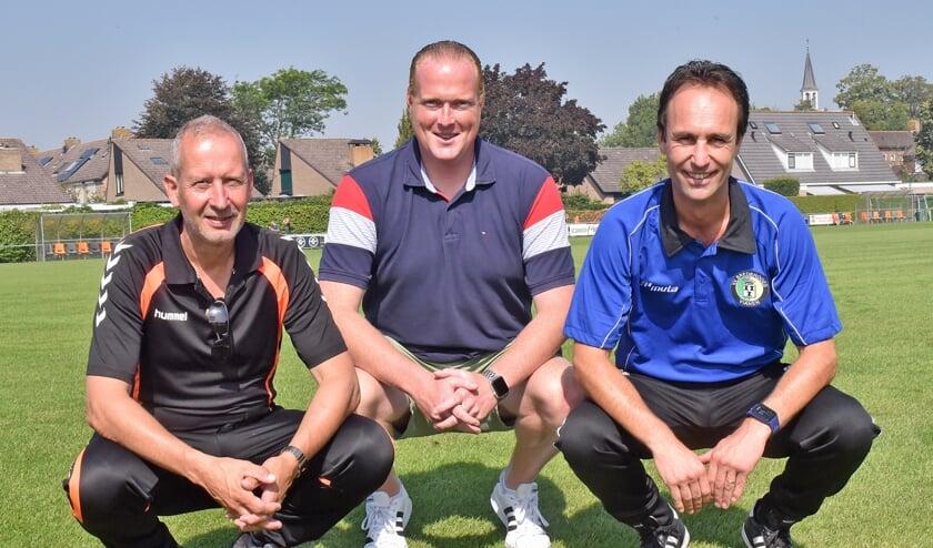 • V.l.n.r. Gerrit Molenaar (HSSC'61), Remko Versteeg (SC Everstein) en Sander Kloos (Brederodes).