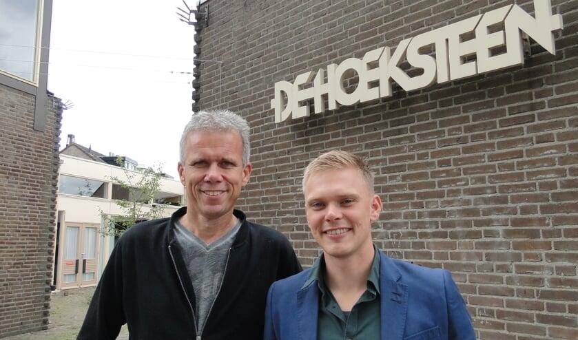 • Wim van Galen (links) en voorganger Jesse Timmer voelen zich thuis in de Monnikenhof.