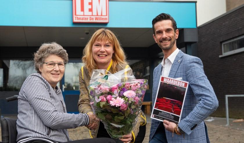• • Corine Verver (midden), Eric van Schijndel en Erik Groeneweg.