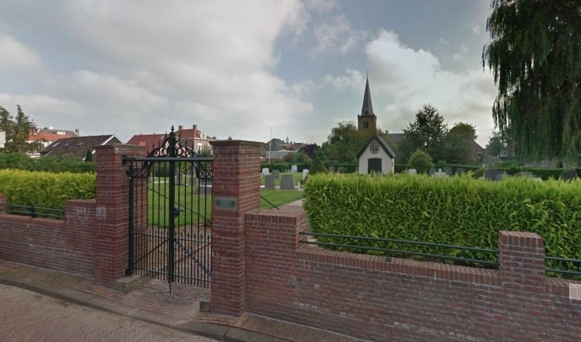 • De entree van de begraafplaats in Ameide.