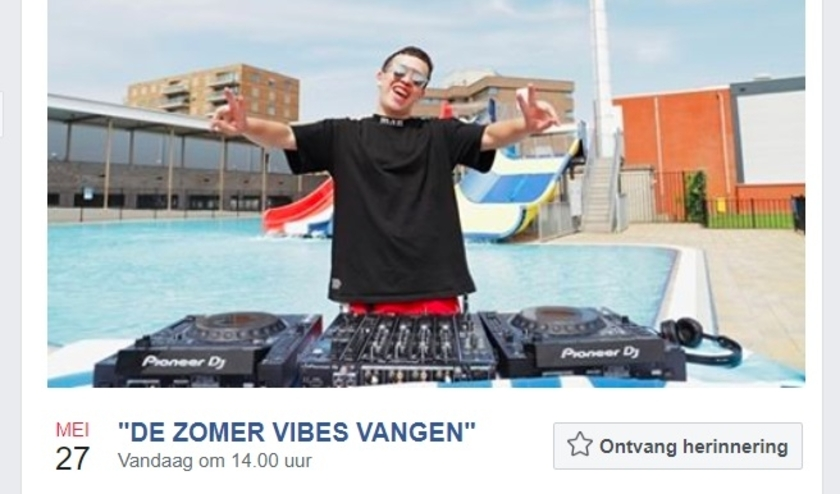 • De aankondiging van de set van DJ T-Style op Facebook.