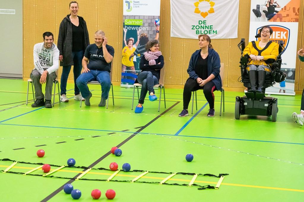Zonnebloem Jongeren spelen het spel Boccia in Helsdingen Foto: Nico Van Ganzewinkel © Vianen