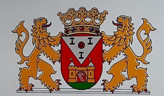 • Voorstel 2 voor het gemeentewapen van de gemeente Vijfheerenlanden.  © Vianen
