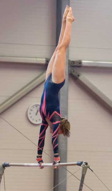 • Manon Schuur turnde een stabiele wedstrijd.