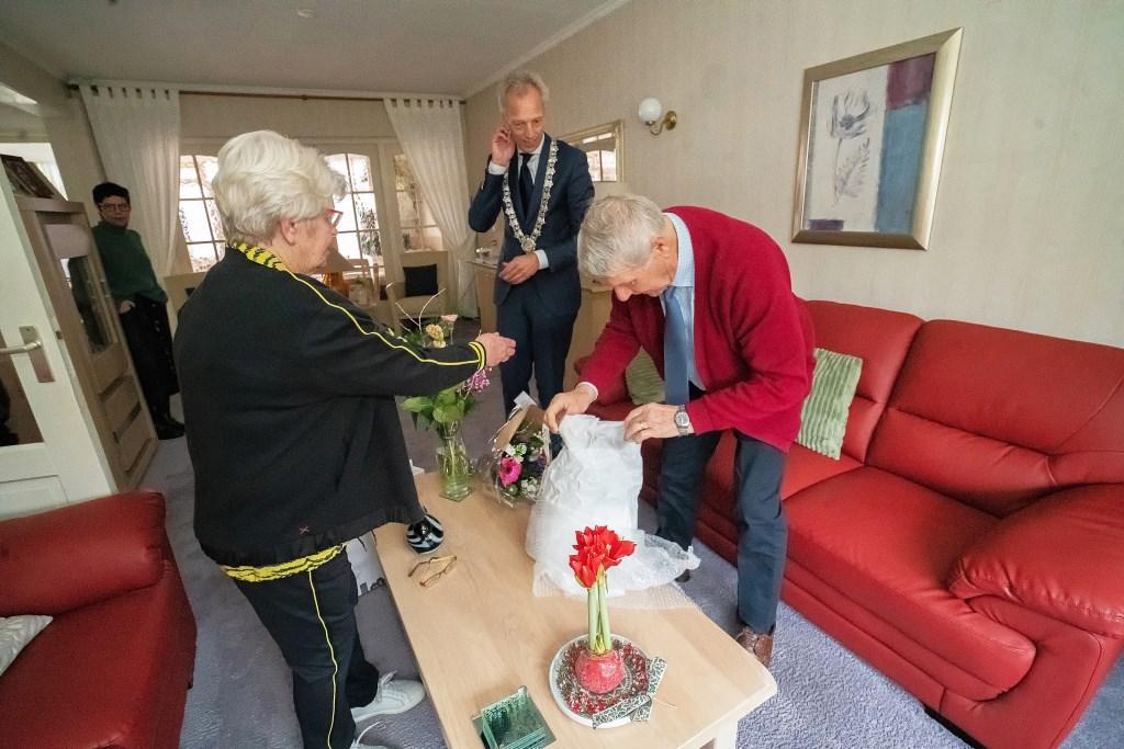 Echtpaar Sanders-Verkuijl 60 jaar getrouwd Foto: Nico Van Ganzewinkel © Leerdam