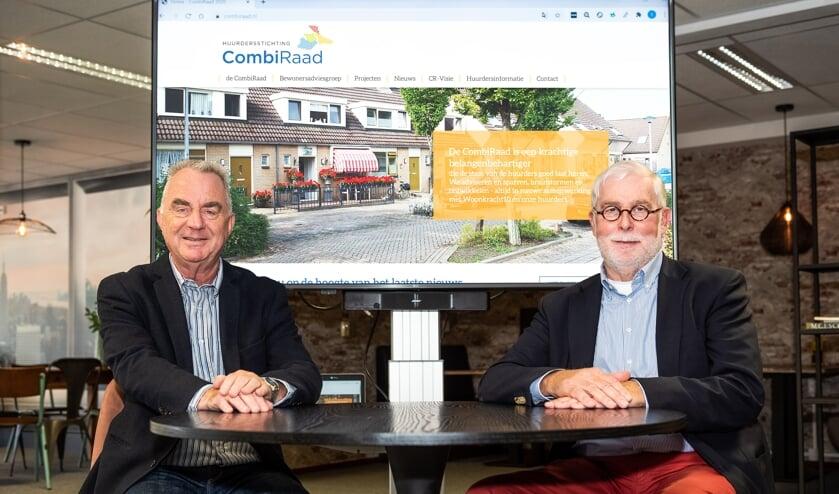 • Theo Wolters (penningmeester, links) en Leo Hartkoren (voorzitter) maken deel uit van het dagelijks bestuur van de CombiRaad.