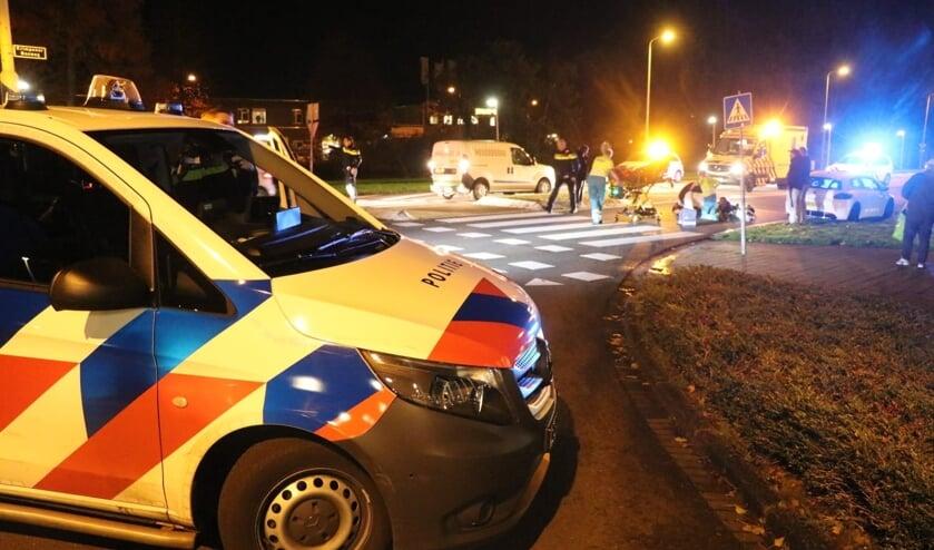<p>&bull; Het ongeval gebeurde bij de oversteekplaats op de Krimpenerbosweg.</p>