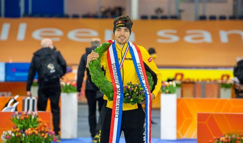<p>• Patrick Roest, trotse Nederlands kampioen.</p>