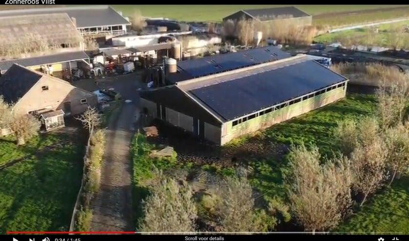 <p>• Beeld uit een dronefilmpje van het proejct.</p>