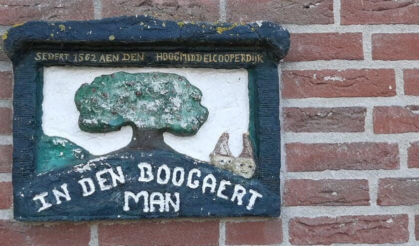 <p>&bull; De gevelsteen in een woonhuis op het Hoogeind.&nbsp;</p>