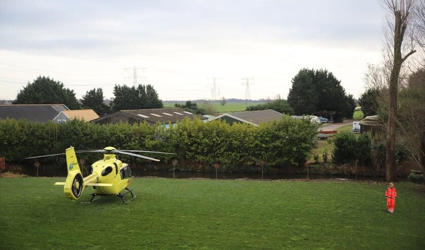 <p>&bull; Er is een traumahelikopter geland in de buurt van het bedrijf.&nbsp;</p>