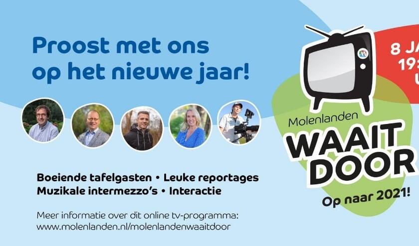 Stem jij vrijdag 6 januari ook af op Molenlanden Waait Door?